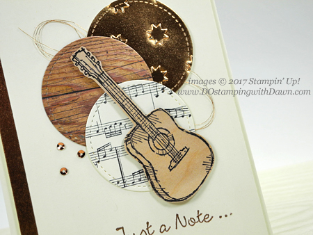 Stampin' Up! Country Livin' & Sheet Music stamp sets card shared by Dawn Olchefske for DOstamperSTARS Thursday Challenge #DSC245 #dostamping
