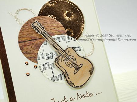 Stampin' Up! Country Livin' & Sheet Music stamp sets card shared by Dawn Olchefske for DOstamperSTARS Thursday Challenge #DSC245 #dostamping