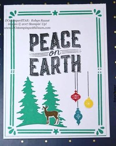 Stampin' Up! Carols of Christmas Bundle shared by Dawn Olchefske  #dostamping(Robyn Rasset)