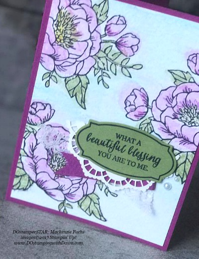 Stampin' Up! Birthday Blossoms and Rose Wonder stamp set and Rose Garden Thinlits shared by Dawn Olchefske  #dostamping (Mackenzie Fuchs)