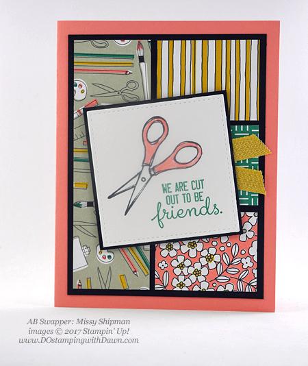 Stampin' Up! Pick a Pattern Designer Series Paper and Crafting Forever stamp set shared by Dawn Olchefske #dostamping(Missy Shipman)