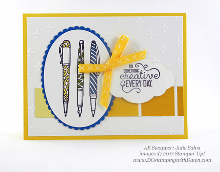 Stampin' Up! Crafting Forever stamp set shared by Dawn Olchefske #dostamping (Julie Salva)