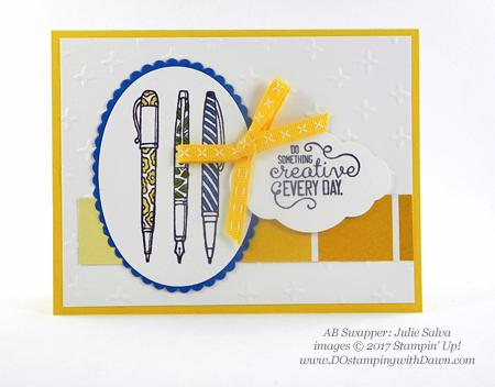 Stampin' Up! Crafting Forever stamp set shared by Dawn Olchefske #dostamping(Julie Salva)