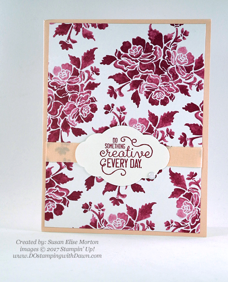 Stampin' Up! Crafting Forever stamp set shared by Dawn Olchefske #dostamping(Susan Elise Morton)