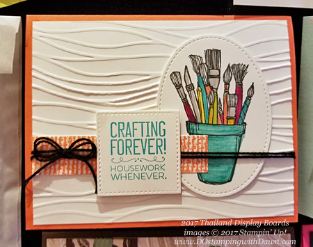 Stampin' Up! Crafting Forever stamp set shared by Dawn Olchefske #dostamping (Thailand display board)