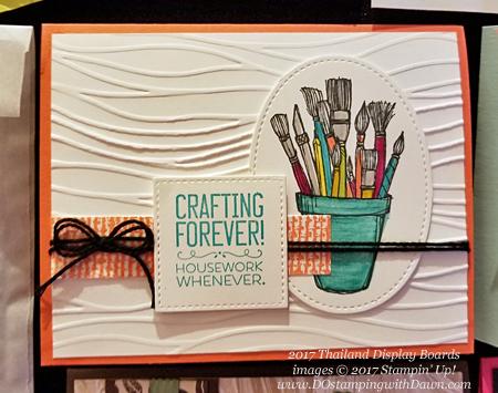 Stampin' Up! Crafting Forever stamp set shared by Dawn Olchefske #dostamping(Thailand display board)