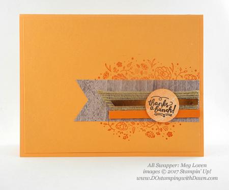 Stampin' Up! Wood Words stamp set shared by Dawn Olchefske #dostamping(Meg Loven)