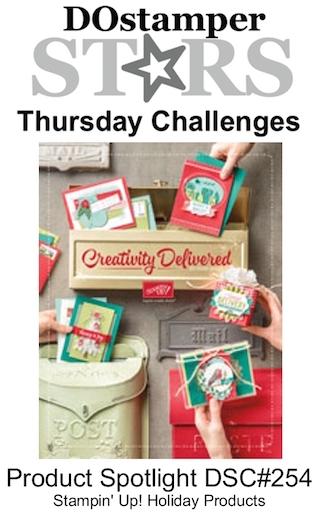 DOstamperSTARS Thursday Challenge #DSC254 #dostamping #stampinup #handmade #cardmaking #stamping #diy