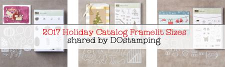 Stampin' Up! 2107 Holiday Catalog Framelit Measurements Page #stampinup #dostamping #framelit #thinlit #bigshot