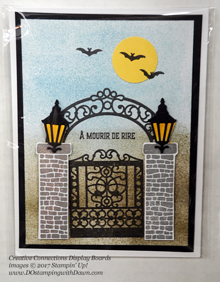 Creative Connections Event Display projects shared by Dawn Olchefske #dostamping #stampinup #handmade #cardmaking #stamping #diy #graveyardgate #halloween