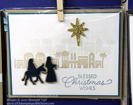 Creative Connections Event Display projects shared by Dawn Olchefske #dostamping  #stampinup #handmade #cardmaking #stamping #diy #nightinbethlehem #christmas
