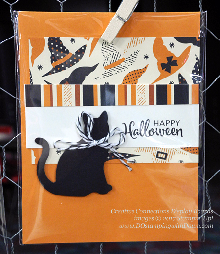 Creative Connections Event Display projects shared by Dawn Olchefske #dostamping  #stampinup #handmade #cardmaking #stamping #diy #catpunch #spookynightdsp #halloween