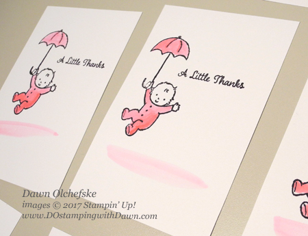 Stampin' Up! Moon Baby thank you cards created byDawn Olchefske #dostamping  #stampinup #handmade #cardmaking #stamping #diy #moonbaby #thankyou