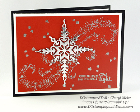 Stampin' Up! Star of Light DOstamperSTARS swap shared by Dawn Olchefske #dostamping #stampinup #handmade #cardmaking #stamping #diy #christmas (Cheryl Meier)