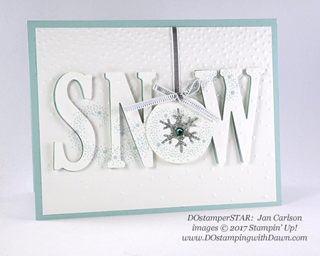 Stampin' Up! Tiered Eclipse DOstamperSTARS swap shared by Dawn Olchefske #dostamping  #stampinup #handmade #cardmaking #stamping #diy #christmas (Jan Carlson)