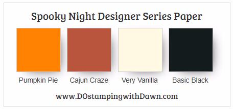 Stampin' Up! Spooky Night Designer Series Paper: Pumpkin Pie, Cajun Craze, Very Vanilla, Basic Black #dostamping #stampinup #handmade #cardmaking #stamping #diy #halloween #spookycat