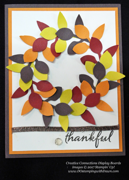Stampin' Up! Painted Harvest stamp set & Leaf punch shared by Dawn Olchefske #dostamping  #stampinup #handmade #cardmaking #stamping #diy #fall #halloween #rubberstamping