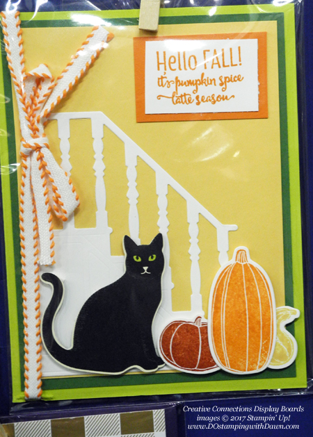 Stampin' Up! Pick a Pumpkin bundle, Spooky Cat bundle, Merry Cafe stamp set & Christmas Staircase thinlits shared by Dawn Olchefske #dostamping #stampinup #handmade #cardmaking #stamping #diy #fall #halloween #rubberstamping