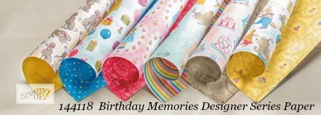 Stampin' Up! Birthday Memories Designer Series Paper shared by Dawn Olchefske #dostamping #dsp
