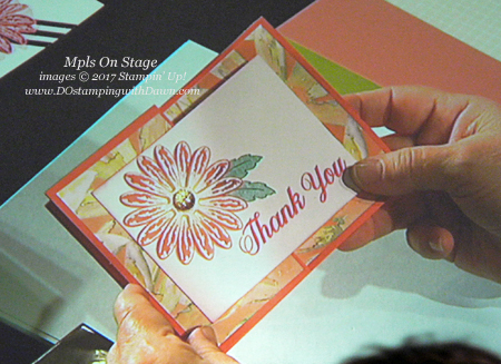 Stampin' Up! Delightful Daisy Designer Series Paper shared by Dawn Olchefske #dostamping #stampinup #handmade #cardmaking #stamping #diy #rubberstamping (2017 Mpls OnStage Display Board)