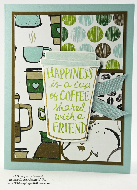 Stampin' Up! Coffee Break Designer Series Paper shared by Dawn Olchefske #dostamping #stampinup #handmade #cardmaking #stamping #diy #rubberstamping (Lisa Fast)