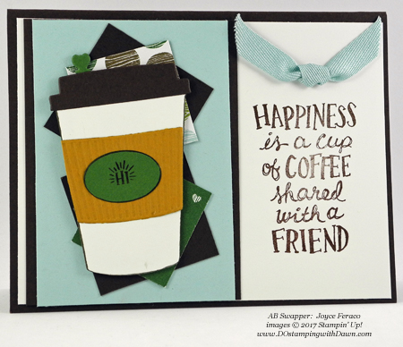 Stampin' Up! Coffee Break Designer Series Paper shared by Dawn Olchefske #dostamping #stampinup #handmade #cardmaking #stamping #diy #rubberstamping (Joyce Feraco)
