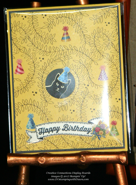 Stampin' Up! Birthday Memories Designer Series Paper shared by Dawn Olchefske #dostamping #stampinup #handmade #cardmaking #stamping #diy #rubberstamping #catpunch