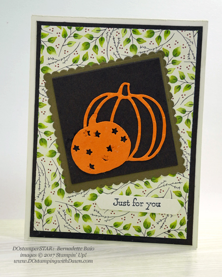 Stampin' Up! Patterned Pumpkin Thinlits shared by Dawn Olchefske #dostamping  #stampinup #handmade #cardmaking #stamping #diy #rubberstamping (Bernadette Baio)