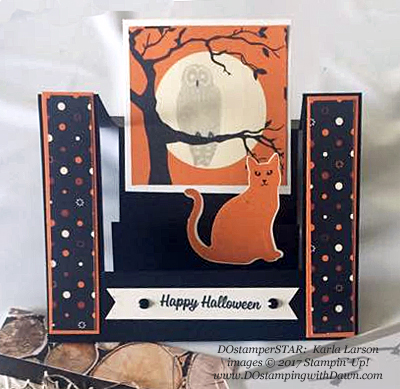 Stampin' Up! Spooky Cat bundle and Spooky Night Designer Series Paper shared by Dawn Olchefske #dostamping  #stampinup #handmade #cardmaking #stamping #diy #rubberstamping (Karla Larson)