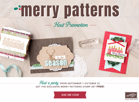Merry Patterns FREE Stamp set with $300, promotion ends 10/31, shop with Dawn O, #dostamping