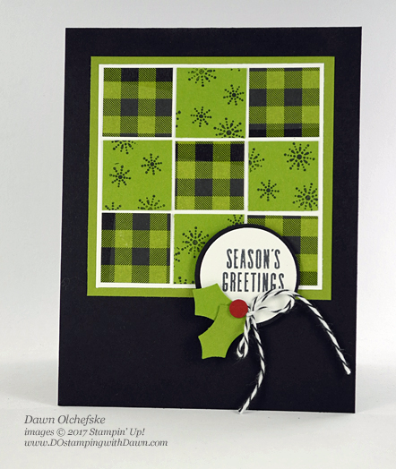Stampin' Up! Pining for Plaid October 2017 Paper Pumpkin Kit ideas by Dawn Olchefske #stampinup #paperpumpkin #cardmaking #cardkit #rubberstamping #diy #piningforplaid #quiltcard #christmas