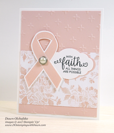 Stampin' Up! Ribbon of Courage card by Dawn Olchefske #dostamping #stampinup #handmade #cardmaking #stamping #diy #rubberstamping #ribbonofcourage #supportribbon