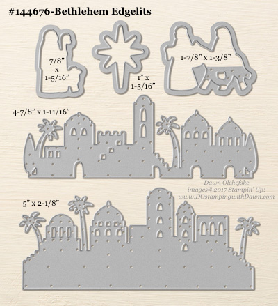 Bethlehem Edgelits sizes shared by Dawn Olchefske #dostamping #stampinup #framelits #thinlits #bigshot