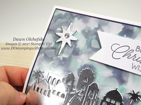 Stampin' Up! Night in Bethlehem Bundle Polished Stone card by Dawn Olchefske #dostamping #stampinup #handmade #cardmaking #stamping #diy #rubberstamping #techniques #polishedstone #howdshedothat #christmas #christmascard #nightinbethlehem #bethlehemedgelits