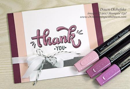 Stampin' Up! Color Me Happy with Stampin' Blends card by Dawn Olchefske for DOstamperSTARS Thursday Challenge #DSC255 #dostamping #stampinup #handmade #cardmaking #stamping #diy #colormehappy #stampinblends #thankyoucards #coloring