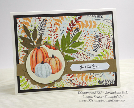 Stampin' Up! Painted Harvest card shared by Dawn Olchefske #dostamping  #stampinup #handmade #cardmaking #stamping #diy #rubberstamping #dostamperstars (Bernadette Baio)