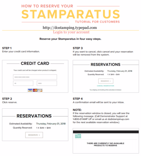 How to Reserve Your Stamparatus with Dawn Olchefske #dostamping