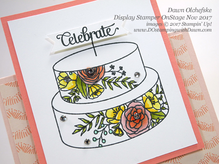 Stampin' Up! Sweet Soiree Suite projects created and shared by Dawn Olchefske #dostamping #stampinup #handmade #cardmaking #stamping #diy #wedding #rubberstamping #tentfoldcard #OnStage2017