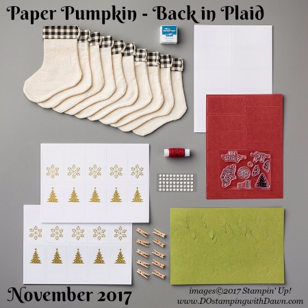 Paper Pumpkin Back in Plaid #paperpumpkin #stampinup #cardkits #dostamping #christmas