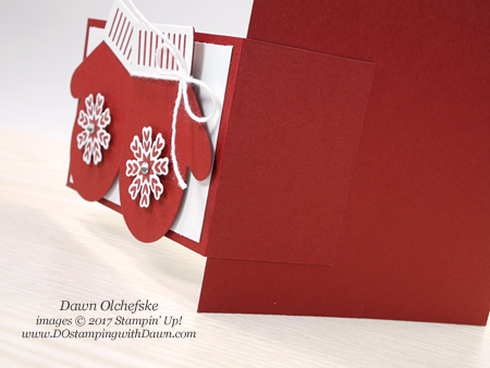 Stampin' Up! Smiten Mittens Bundle shared by Dawn Olchefske #dostamping  #stampinup #handmade #cardmaking #stamping #diy #rubberstampings #christmascards #funfold