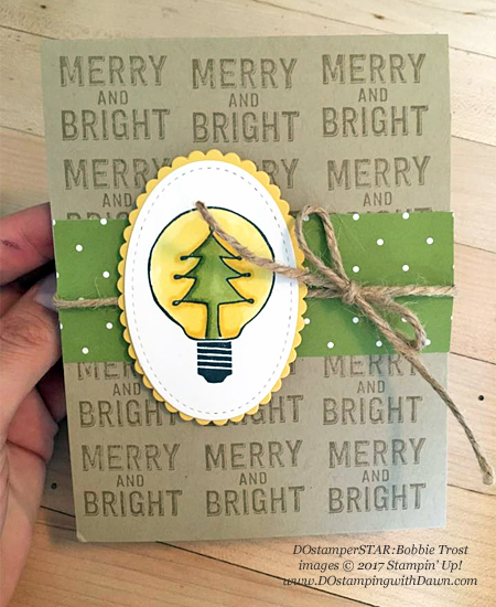 Stampin' Up! Watts of Occasions of shared by Dawn Olchefske #dostamping  #stampinup #handmade #cardmaking #stamping #diy #rubberstamping #christmascards (Bobbie Trost)