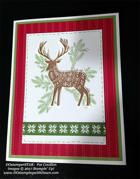 Stampin' Up! Merry Patterns shared by Dawn Olchefske #dostamping #stampinup #handmade #cardmaking #stamping #diy #rubberstamping #christmascards (Pat Covillon)