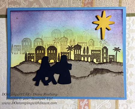 Stampin' Up! Night in Bethlehem Bundle shared by Dawn Olchefske #dostamping #stampinup #handmade #cardmaking #stamping #diy #rubberstamping #christmascards (Diane Rosburg)