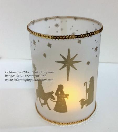Stampin' Up! Night in Bethlehem Bundle shared by Dawn Olchefske #dostamping #stampinup #handmade #cardmaking #stamping #diy #rubberstamping #christmascards (Linda Kaufman)