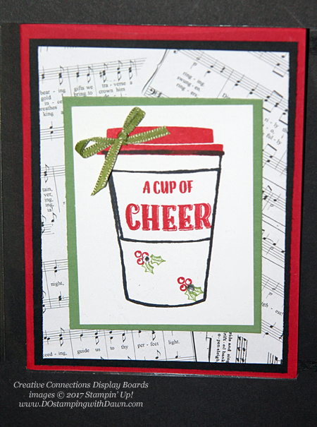 Stampin' Up! Merry Cafe card shared by Dawn Olchefske #dostamping  #stampinup #handmade #cardmaking #stamping #diy #rubberstamping #christmascards