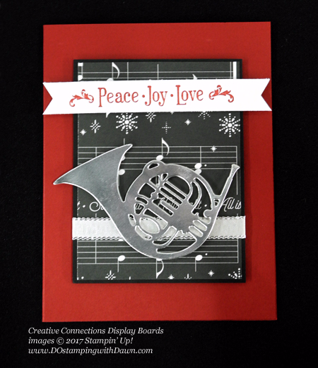 Stampin' Up! Musical Season Bundle card shared by Dawn Olchefske #dostamping #stampinup #handmade #cardmaking #stamping #diy #rubberstamping #christmascards