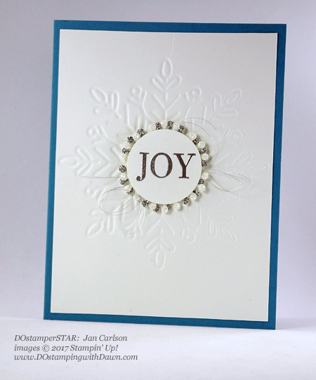 Stampin' Up! Cheers to the Year card shared by Dawn Olchefske #dostamping #dostamperstars #christmascards #diy #rubberstamping #handmade (Jan Carlson)