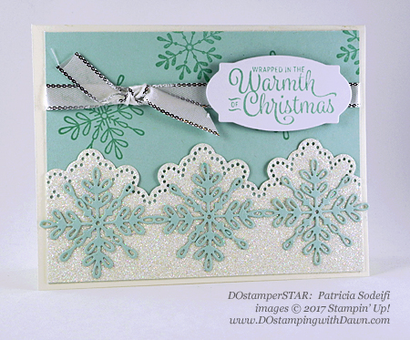 Stampin' Up! Snowflake Sentiments Bundle card shared by Dawn Olchefske #dostamping #dostamperstars #christmascards #diy #rubberstamping #handmade (Patricia Sodeifi)