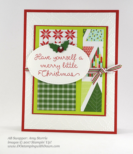 Stampin' Up! Christmas Quilt bundle cards shared by Dawn Olchefske #dostamping  #stampinup #handmade #cardmaking #stamping #diy #rubberstamping #christmascards #christmasquilt (Amy Storrie)