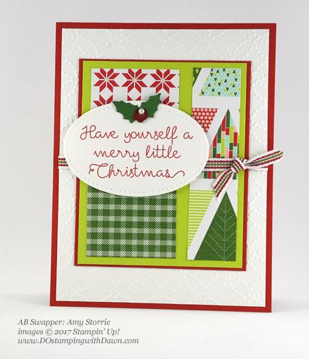 Stampin' Up! Christmas Quilt bundle cards shared by Dawn Olchefske #dostamping #stampinup #handmade #cardmaking #stamping #diy #rubberstamping #christmascards #christmasquilt (Amy Storrie)